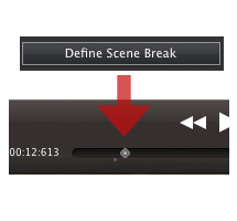 Click the Define Screne Break button to activate/deactivate a special effect