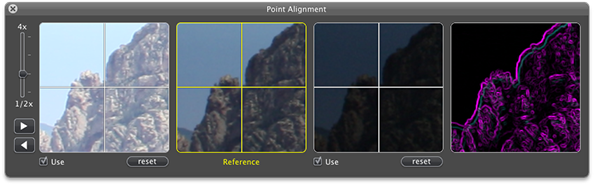 New in Hydra 3: Image alignment window with X-Ray preview