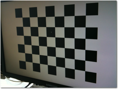 Good picture of the calibration pattern to be used for Prizmo